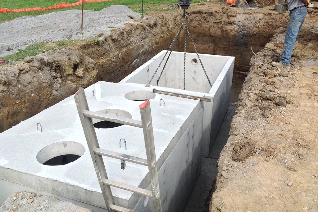 Precast septic tanks systems drainage sanitary for How to build a septic tank